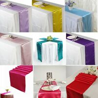 """12"""" x 108"""" Satin Table Runner Wedding Party Events Christmas Venue Decoration"""