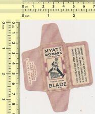 MYATT DAYMARK Razor Blade Wrapper Lame Rasoir Lametta Barba Rasierklinge #23