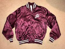 "Vintage ""Birdie"" Satin Varsity Snap Jacket - Cherry 7up ~ LARGE"