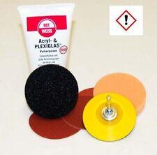 75mm Scheinwerfer-Aufbereitungs-Polier-Set Acryl-Plexiglas-Kunststoff SET-GLAS1