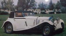 1929 Mercedes-Benz Drop-Head Coupe Postcard Part of Harrah's Autocard