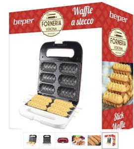 Macchina Elettrica Piastra per Waffle a stecco 850 W ABS, Rosso Waffel