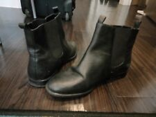 Schuh Woman Black Leather Chelsea Ankle Boots. Size 6 UK/39 EU