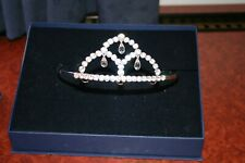 A Beautiful Swarovski Crystal Made Tiara Lovely Design + Original Box, Signed