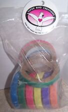 Super Bird Creations 2-Inch Donuts Rings Bird Toy, 9-Pack