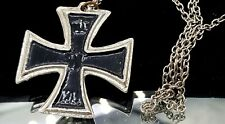 Vintage WW1 Iron Cross imitation pendant necklace