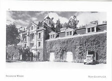 "+PC-Postcard-""Inglenook Winery"" (Opened 1885)  Napa County, CA.(A20-2)"