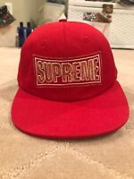 Supreme 6-Panel Hat Red Brand New
