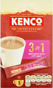 Kenco 3 in 1 White Instant Coffee Sticks 16 x 5s