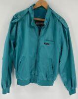 Members Only Womens Bomber Jacket Blue Zip Up Pocket Mock Neck Long Sleeve XS 42