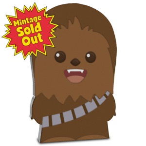 2020 Niue Star Wars CHEWBACCA Chibi 1oz Silver Proof Coin ~ SOLD OUT