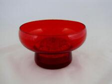 Morgantown Glass Sharon Flowerlite in Ruby Color Glass, #9922
