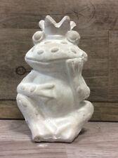 Clayre&Eef*Frosch*Froschkönig*Statue*Figur*Garten*Deko*Shabby*Zementlook*Frog