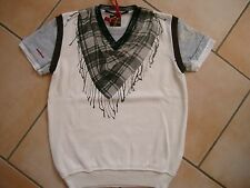 (C494) RARE-The Kid Boys 3in1 Optik Shirt Pullunder Logo & Halstuch Druck gr.140