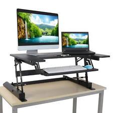 Desktop Tabletop Standing Desk Adjustable Height Sit to Stand Workstation Black