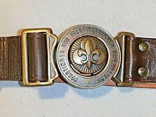 Pfadfinder Koppelschloss mit Gürtel, Österreich, Boy Scout padlock with belt,