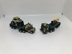 Micro Machines Galoob #2 Military Convoy Semi Collection 1989 Schwimm Missile