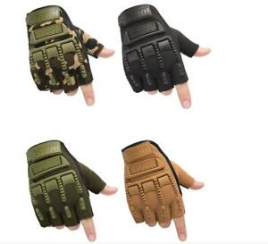 Outdoor Army Military Tactical Motorcycle Hunt Gym Training  Half Finger Gloves