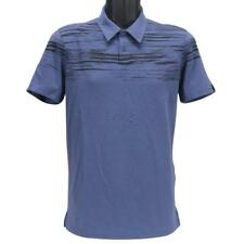 Oakley Offset Wave Polo Mens Size XXL Blue Indigo Golf Casual Tailored Fit Tee