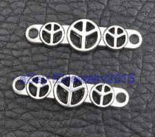 25pcs Tibetan silver charm beads peace Connectors 39x11mm G3396