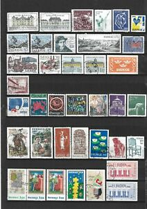 Eclectic Lot of Colourful Used Sweden Stamps - Lot 160
