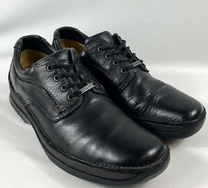 Mens CLARKS  ACTIVE AIR  GORTEX  BLACK LEATHER LACE UP SHOES size UK 8.5  (42.5)