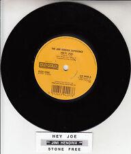 "JIMI HENDRIX  Hey Joe & Stone Free 7"" 45 rpm record + juke box title strip NEW"
