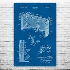 Hockey Goal Poster Print Hockey Art Goal Blueprint Sports Decor Hockey Player