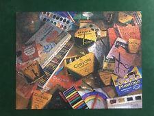 VINTAGE SPRINGBOK 500 PIECE JIGSAW PUZZLE CRAYOLA SCHOOL DAYS 1994 COMPLETE Rare