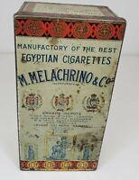 M.Melachrino & Co  Egyptian Cigarettes  TIN Wonderful Stamp