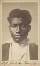 CDV PORTRAIT OF YOUNG AFRICAN MAN - HAMBURG, GERMANY