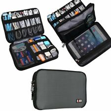 BUBM Double Layer Travel Gear Organiser / Electronics Accessories Bag (Medium,Gr