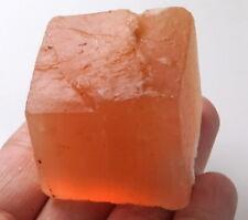 431Ct Natural Orange Selenite Gypsum Crystal Facet Rough Specimen Brazil YOG7