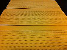 100 old vintage Computer Mainframe Punch Cards