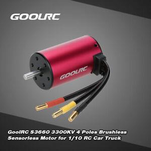GoolRC S3660 3300KV 4-polig bürstenloser sensorlos motor für RC Auto Truck T3A0