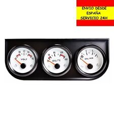 Kit 3 Relojes Reloj Coche Voltimetro Termometro Temperatura y presión Aceite