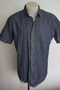 ben sherman blue patterned s/s shirt…size large…vgc...