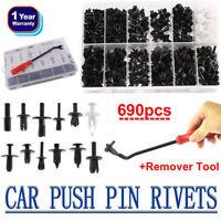 690Pcs Plastic Car Body Push Pin Rivet Fasteners Trim Moulding Clip Assortments