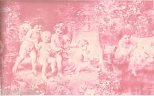 Victorian Architectural Antique Baby Angels Cherubs Powder Pink Wallpaper Border