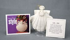 Margaret Furlong 1991 Gift Angel With Stand In Original Box Seashell Christmas