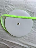 "15yds yards 3/8"" Single Sided Velvet Ribbon Neon Green Face Mask ties"