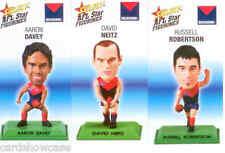 2008 Select AFL Color Figurine picture card Team Set Melbourne (3)-RARE