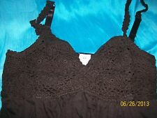 Crochet Swing Top - Trapeze/Maternity - Brown - Small