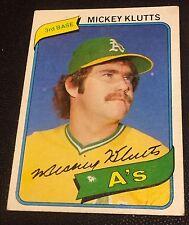 MICKEY KLUTTS 1980 Topps Unlisted ERROR #717 WHITE BLOTCH OddBaLL Variation SP