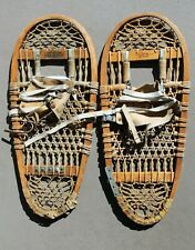 """Pair of Vintage Swenson and Swenson """"Bearpaw"""" Bentwood REI Snowshoes c. 1965"""