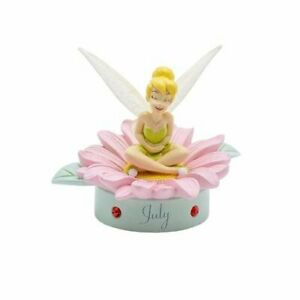 JULY Sentimental Gift Gorgeous Disney Tinker Bell Birthstone Sculpture in a Box
