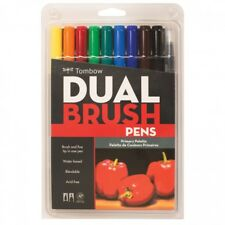 Tombow Dual Brush Pens Art Markers Fine Brust Tip ABT Set of 10 Primary Colors