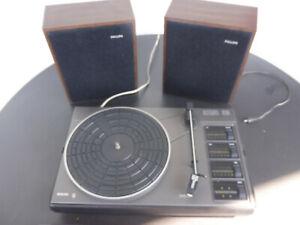 Philips Stereo 310 Plattenspieler -Top Rarität - mit Lautsprecherboxen - TOP!!