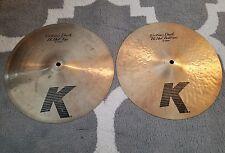 "Zildjian K Custom Dark 13"" hi hat cymbals!!  $$"