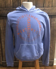 AMERICAN EAGLE Graphic Pullover Blue Hooded Sweatshirt Hoodie Women's Size XL